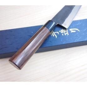 Faca japonesa do chef gyuto KYUSAKICHI - Aço ZDP189 - Kurouchi - Tamanho:21cm