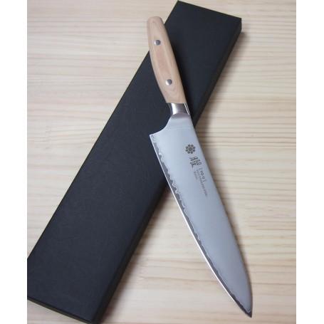 ヤクセルYAXELL 曜 3層鋼 ビアンコ 牛刀 21cm