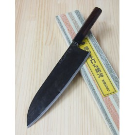 Faca japonesa do chef gyuto artesanal TAKEDA HAMONO - Aço super blue steel - 24cm