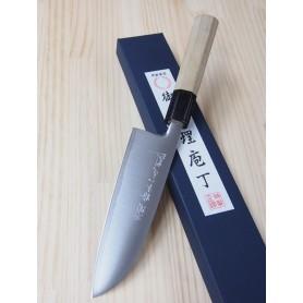 Faca japonesa santoku MIURA -Série Powder steel -cabo de magnolia- Tam:16,5cm