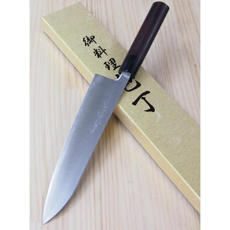 Faca japonesa santoku YOSHIHIRO Super blue steel tam:18/21/24cm