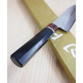 Faca japonesa santoku MIURA KNIVES Série Aka tsuchime VG10 tam:18cm