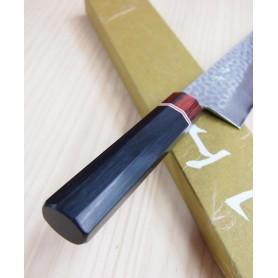 Faca japonesa do chef gyuto MIURA KNIVES Série Aka tsuchime VG10 tam:21cm