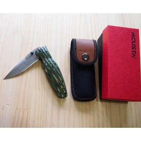 Canivete Mcusta Vg10 Damascus Série Sengoku - Senno Rikyu - 94mm