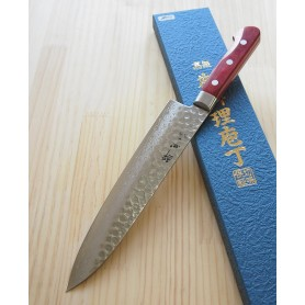 Faca japonesa do chef gyuto SUISIN Série damascus wine - 21cm