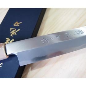 Faca japonesa yanagiba SUISIN White steel no.2 com afiação especial HONBAZUKE by Tatsuya Aoki Tam: 27/30cm
