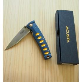 Canivete Mcusta Vg10 Série Katana -blue-orange - 85mm