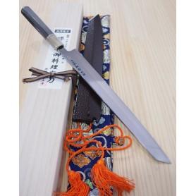 Faca japonesa kengata yanagiba SUISIN Honyaki shiro1 - tam:30cm