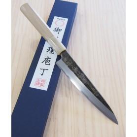 Faca japonesa petty MIURA -Série Carbon white 2 kurouchi - Tam:15cm