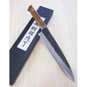 佐治武士SAJI TAKESHI 青紙スーパー 黒打 牛刀 アイアンウッド 21cm