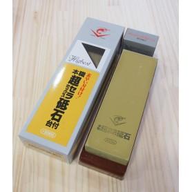 Pedra para afiar NANIWA CHOSERA 2000 com base plástica e pedra de ajuste 600 - Fabricado para o mercado japonês