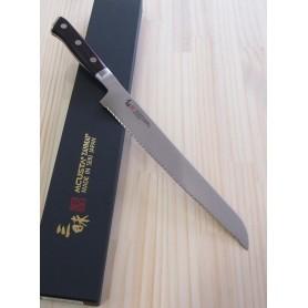 Faca japonesa para pão ZANMAI - Série Classic damascus premium - Tam: 23cm