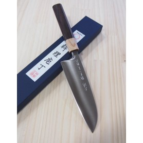 Faca japonesa santoku MIURA -Série Powder steel -cabo rosewood- Tam:16,5cm