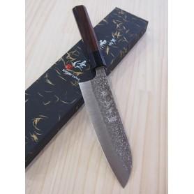 Faca japonesa santoku YU KUROSAKI Série Shizuku R2 Tam:16.5cm