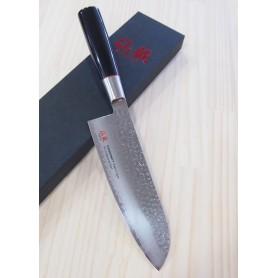 Faca japonesa santoku SUNCRAFT Senzo classic VG-10 damascus Tam:16,5cm