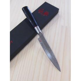 Faca japonesa utility SUNCRAFT Senzo classic VG-10 damascus Tam:12cm