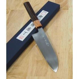 三浦刃物MIURA KNIVES 白紙2号 極上 三徳 紫檀八角柄 17cm
