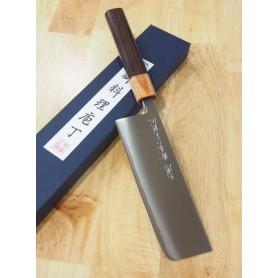 Faca japonesa nakiri MIURA -Série Powder steel rosewood handle- Tam:16,5cm