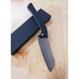 Faca santoku TAKESHI SAJI Estilo canivete Aço inox damascus R2 13cm