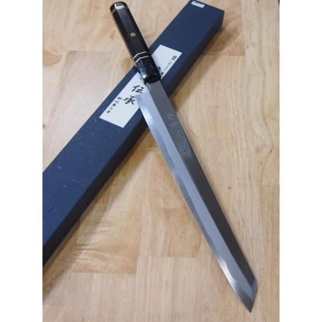 酔心SUISIN 伝承 白一鋼 剣型柳刃 カスタムハンドル 30cm