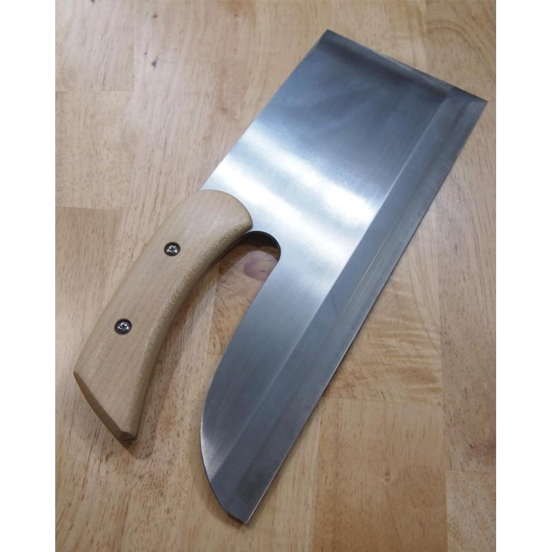 faca sobakiri menkiri MIURA Aço carbono white steel no.2 para destros Tam:33cm