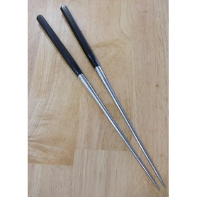 盛箸MORIBASHI 本焼 黒合板六角柄 15cm/18cm