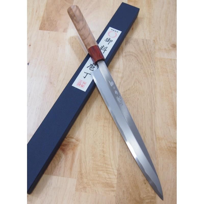 Faca japonesa yanagiba MIURA Série shirogami 2 - Tam:27/30cm