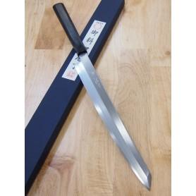三浦刃物MIURA KNIVES 三浦 佩 白二鋼 切付柳刃 黒檀柄 27cm/30cm